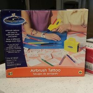 Kids air brush tattoo kit